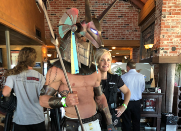 Stargate Jackal Guard Anubis cosplay at San Diego Comic-Con