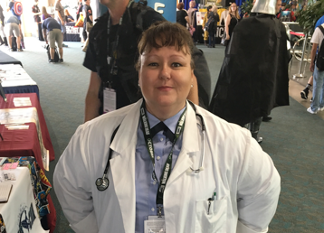 Stargate Command Janet Fraiser cosplay at San Diego Comic-Con