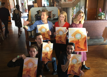 Stargate Origins: Catherine Cast with signed posters at SDCC