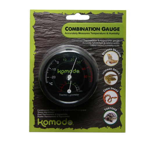 Komodo Combined Thermometer & Humidity Dial.