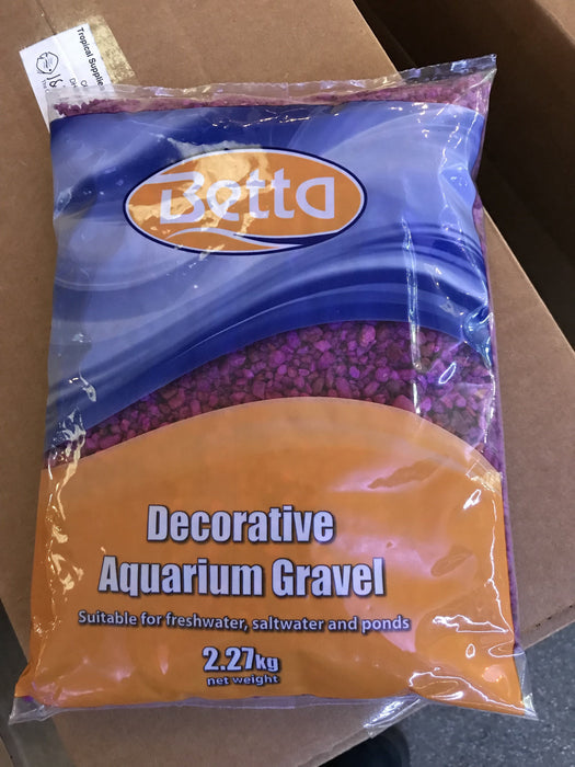 Betta neon purple gravel 2.27kg.