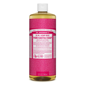 Dr Bonner's -  Castile Rose Liquid Soap 946ml