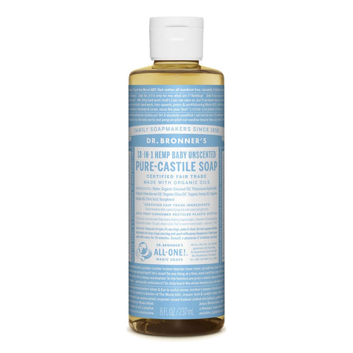Dr Bonner's - Baby Unscented Castile Liquid Soap 237ml