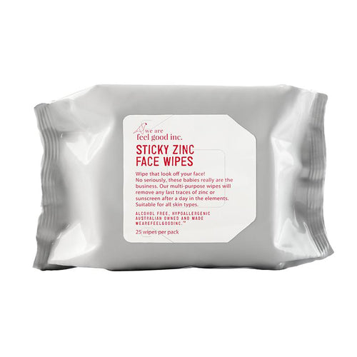 Feel Good Inc - Sticky Zinc Face Wipes