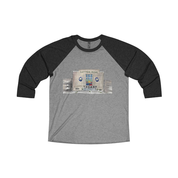 Cotton Bowl Unisex Tri-Blend 3/4 Raglan Tee