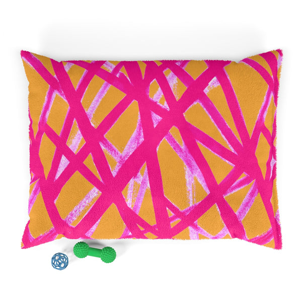 HOT PINK & ORANGE GRAFFITI LINES Pet Bed