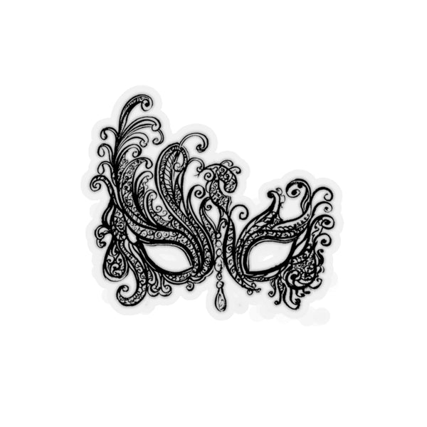 BLACK LACE MARDI GRAS MASK REMOVABLE Sticker