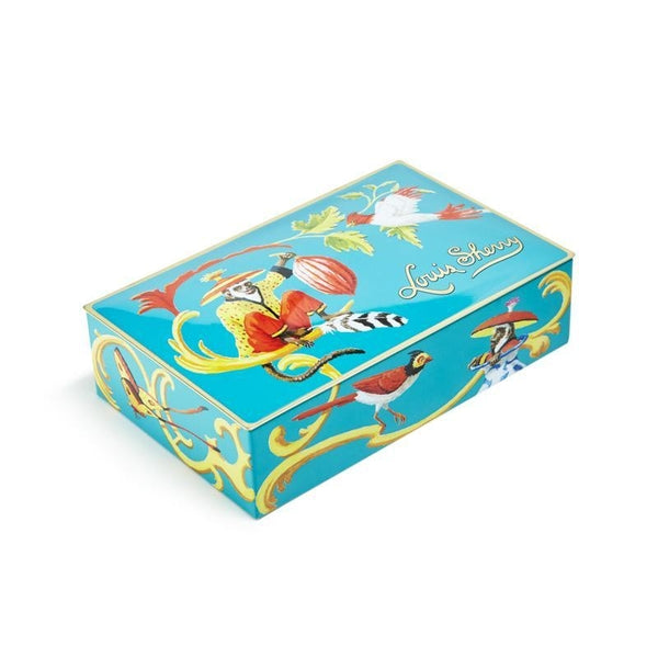 Singerie Teal 12 Piece Chocolate Tin