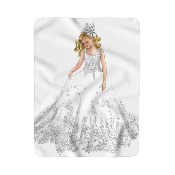 Flower Girl Fleece Sherpa Blanket