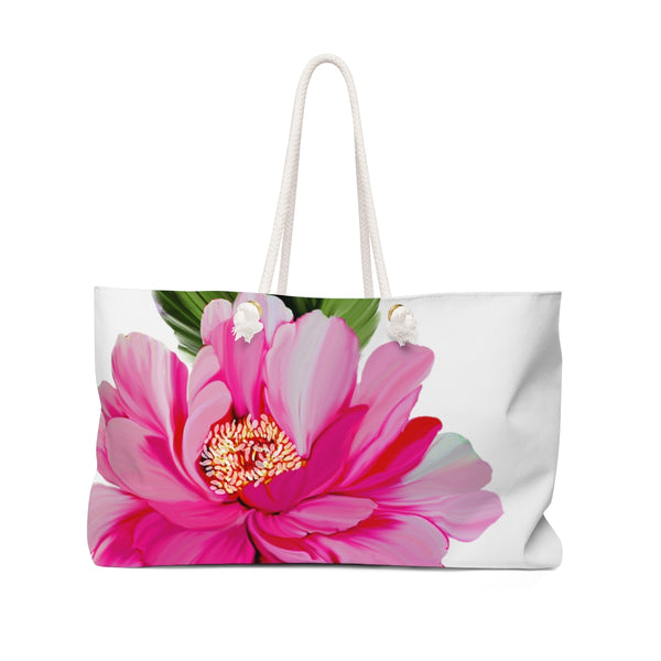 Garden Mini Rose Flower Weekender Tote