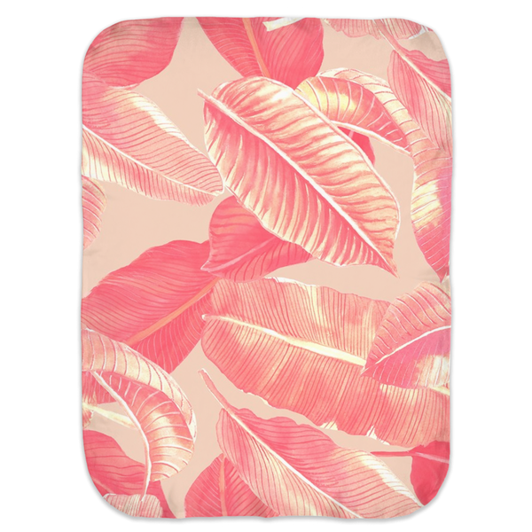 CORAL PALMS SWADDLE BLANKET