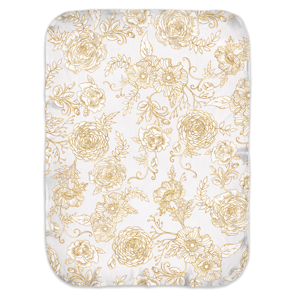 GOLDEN FLOWERS SWADDLE BLANKET