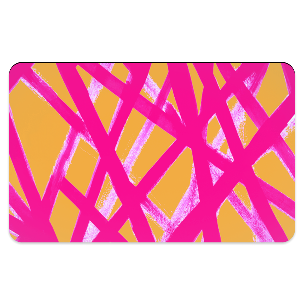 HOT PINK & ORANGE GRAFFITI LINES PET PLACEMAT