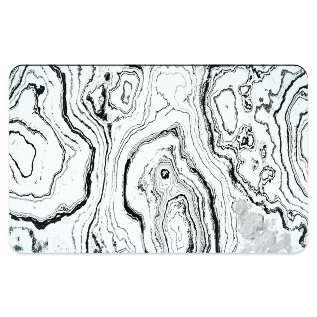 BLACK & WHITE GEODE PET PLACEMAT