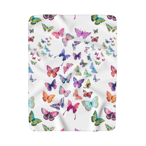 Butterfly Swarm Sherpa Fleece Blanket