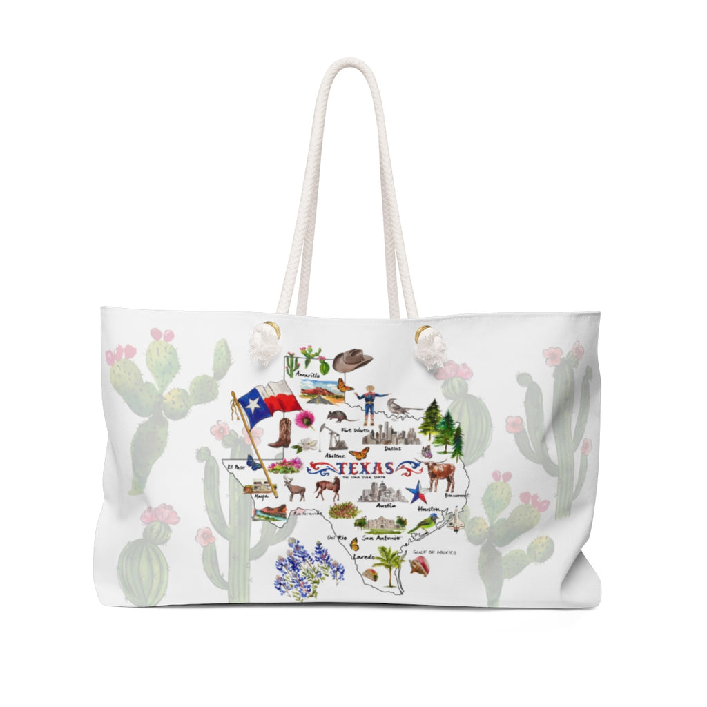 'Welcome to Texas' Cactus Setting Weekender Tote