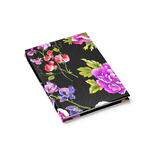 Black Floral Frenzy Journal