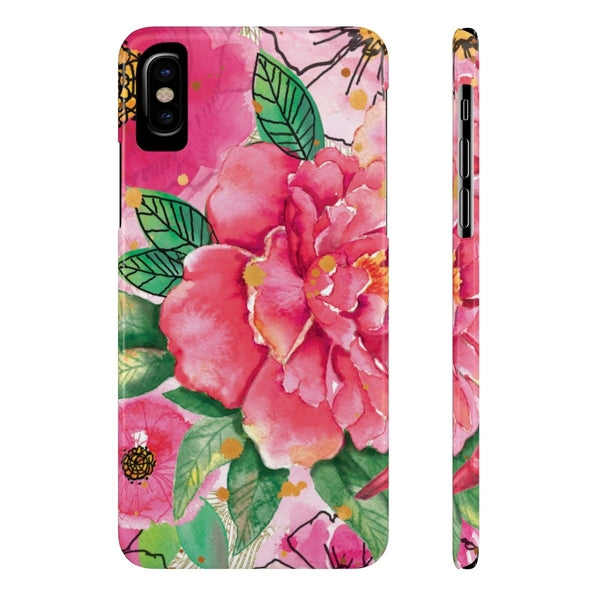 Pink Flower Birds Case Mate Slim Phone Case