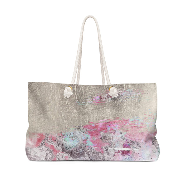 Abstract Gold Coral Weekender Tote
