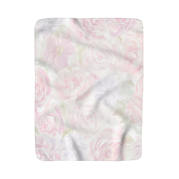Shelby Floral Baby Girl Sherpa Fleece Blanket