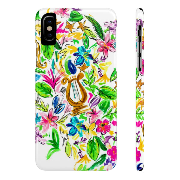 Watercolor Lyre Case Mate Slim Phone Case