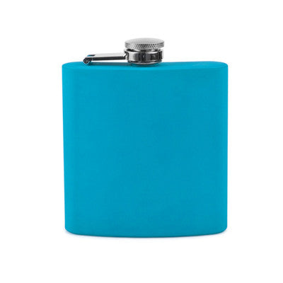 Bulk Blue Soft Touch Flask