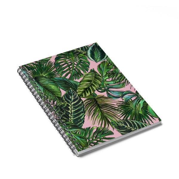 Palm Leaf Blush Spiral Notebook - Ruled Line