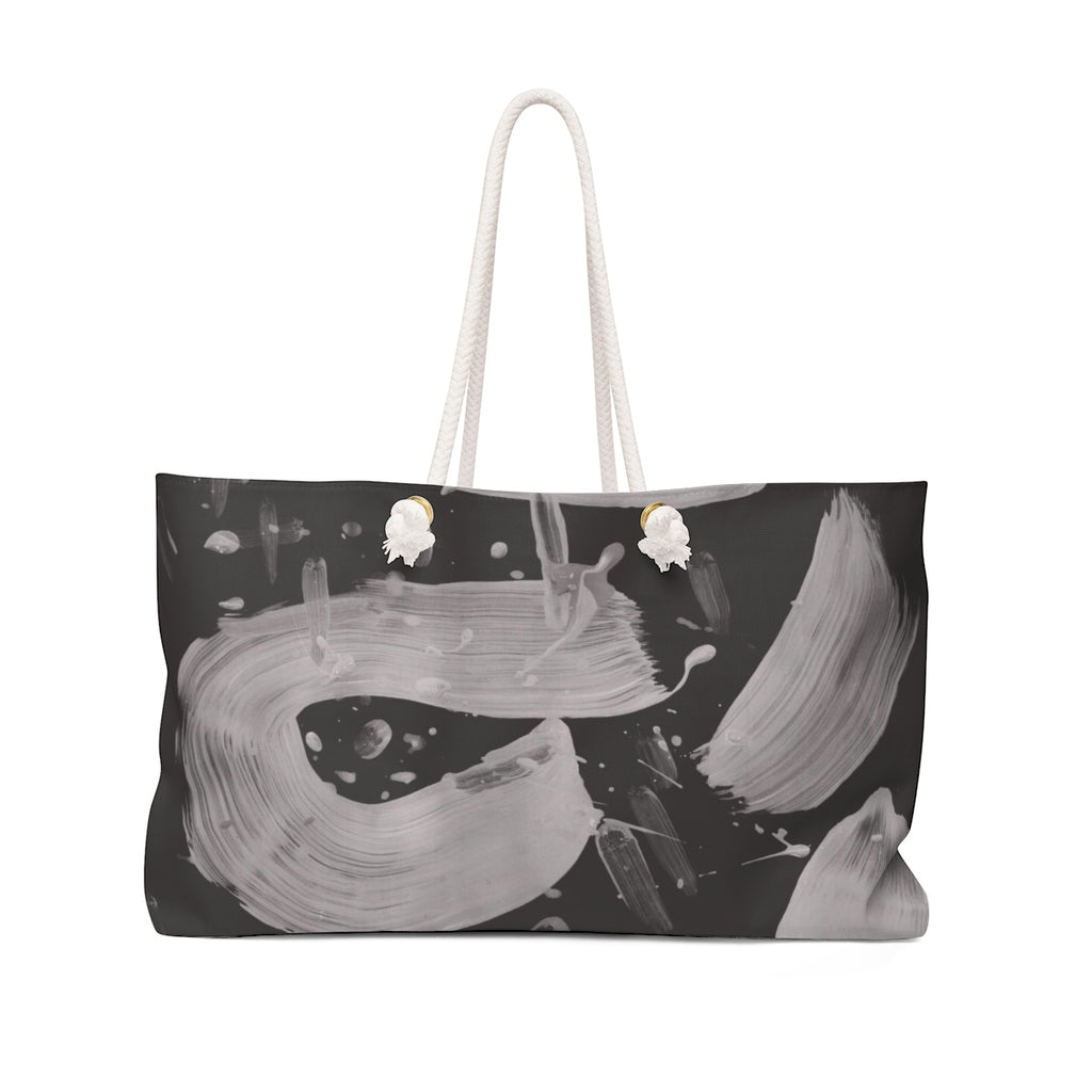 BLACK & WHITE PAINT SMEAR Weekender TOTE