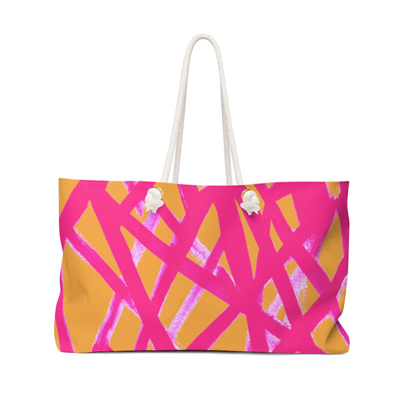 Graffiti Orange & Fuchsia Weekender Tote
