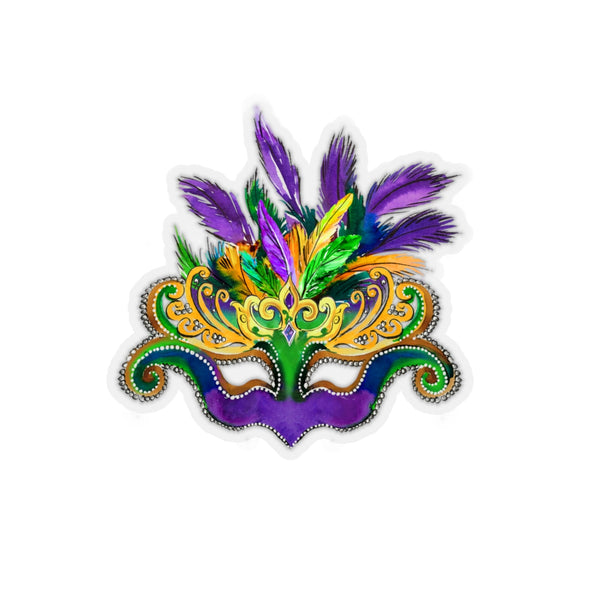 Glitz Girl Mardi Gras Mask REMOVABLE Sticker