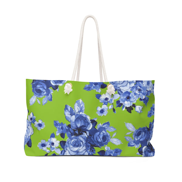 Green + BLUE Garden Rose Weekender Tote