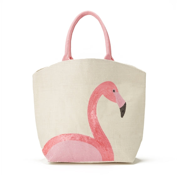 Flamingo Sequin Icon Tote
