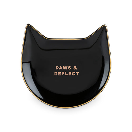 Paws & Reflect: Black Cat Tea Tray