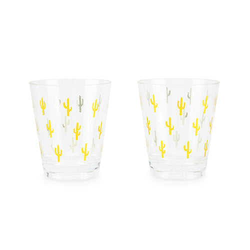 Gold Cactus Acrylic Cups