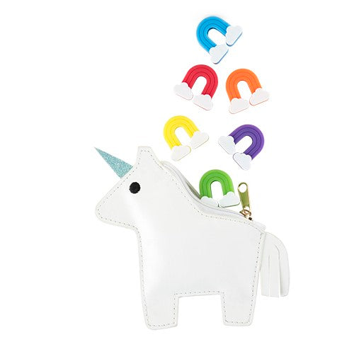 Unicorn Pouch Filled with Rainbow Charms