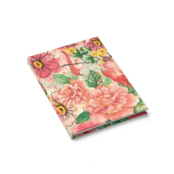 Peach Flower Birds Journal