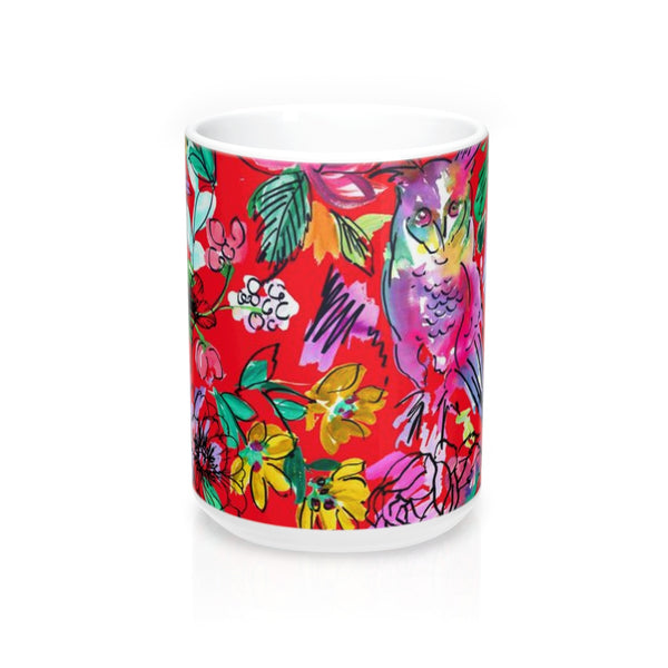 Chi O Owl Watercolor Red Mug 15oz