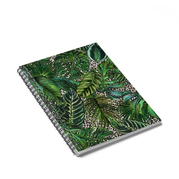 Palm Leopard Spiral Notebook - Ruled Line