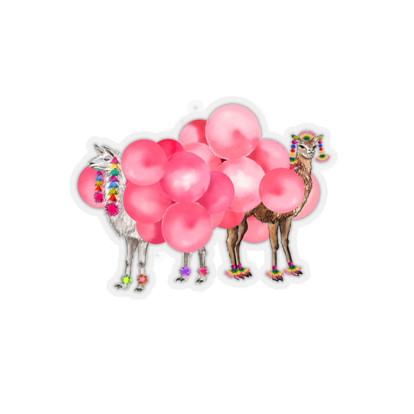Balloon Llamas Kiss-Cut Sticker