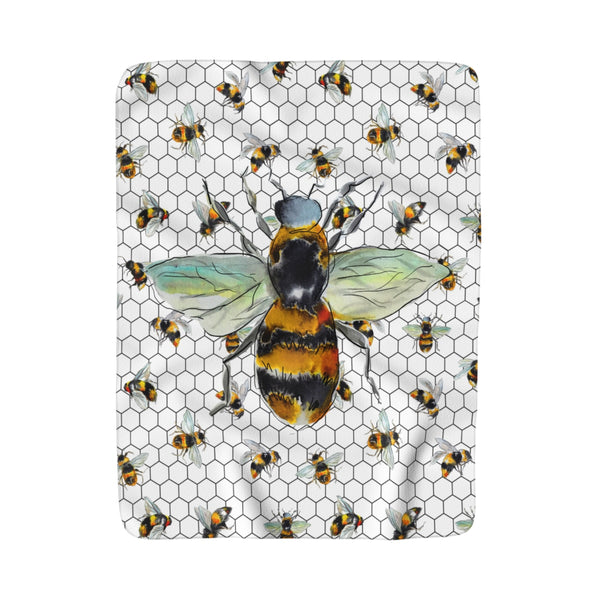 Bee Love Fleece Sherpa Blanket