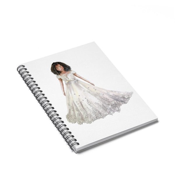 Flower Girl Spiral Notebook - Ruled Line