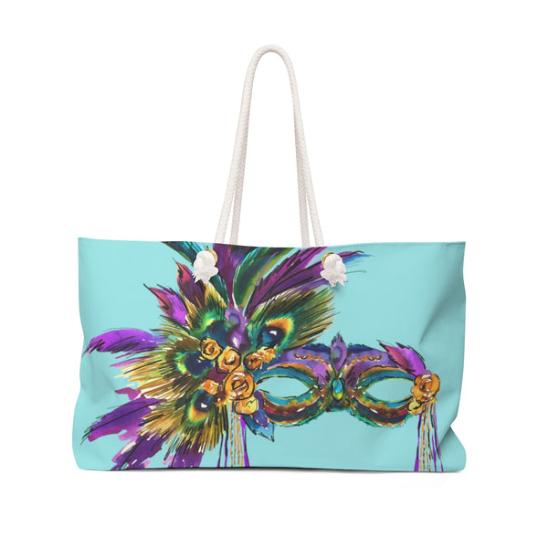 MARDI GRAS OVER THE TOP MASK Weekender TOTE