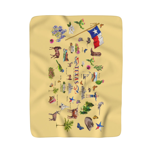 I Love Texas Sherpa Fleece Blanket