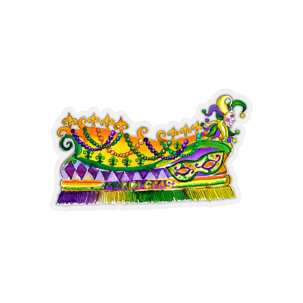 MARDI GRAS FLOAT REMOVABLE Sticker