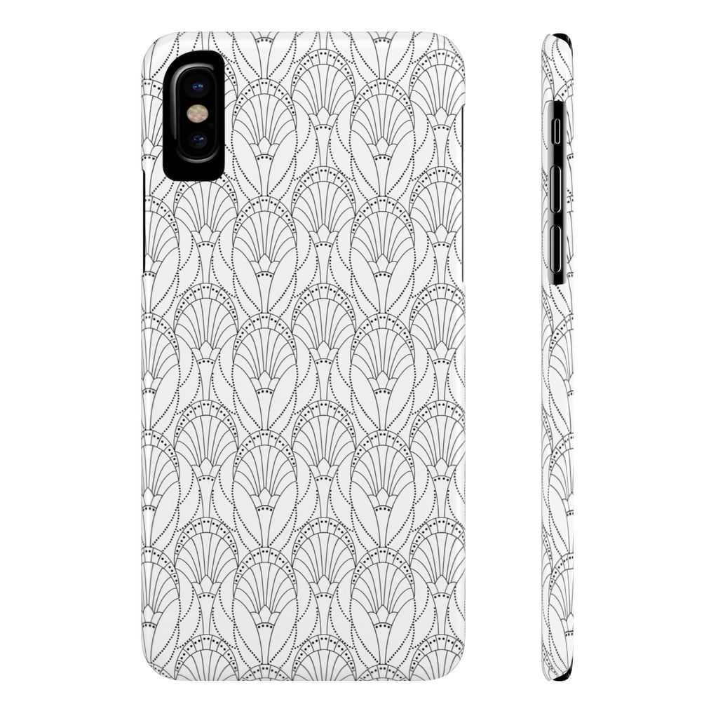 Art Deco Black & White Case Mate Slim Phone Case