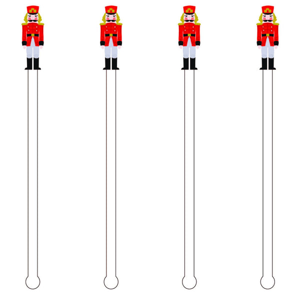 Russian Nutcracker Acrylic Stir Sticks
