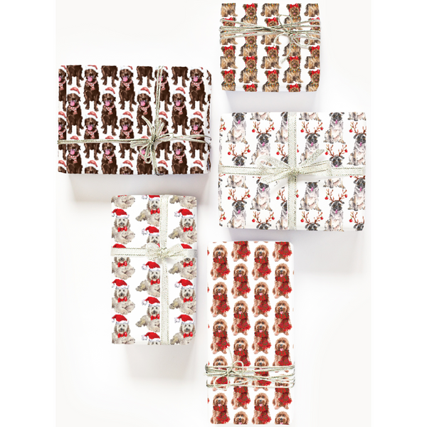 Doggy Christmas Gift Wrap: 28 Breeds