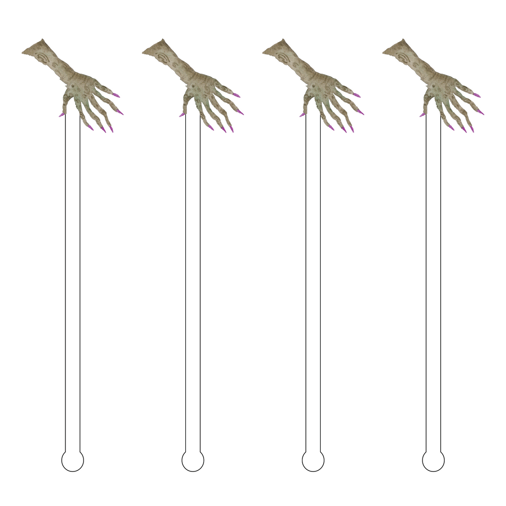 Creepy Hand Acrylic Stir Sticks