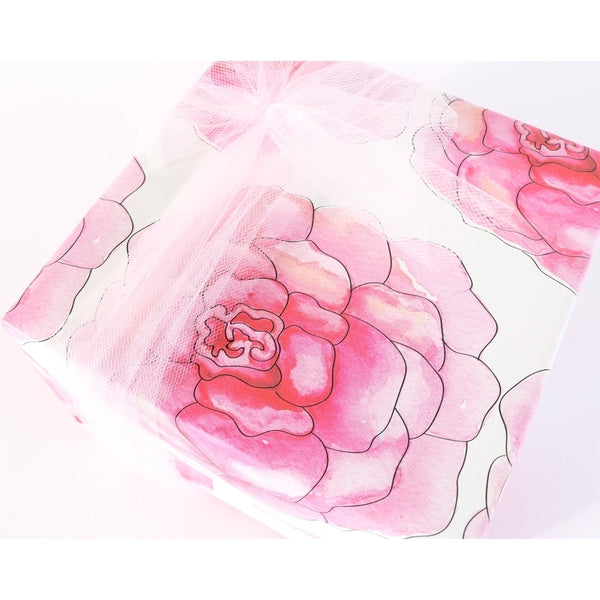 Pink Camelia Gift Wrap