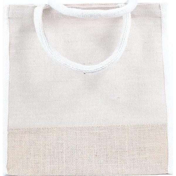 Two Toned Burlap Tote